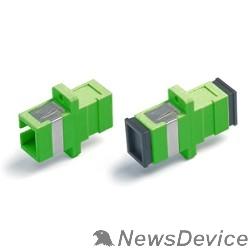 Монтажное оборудование Hyperline FA-P11Z-SC/SC-N/BK-GN Оптический проходной адаптер SC-SC, SM, simplex, корпус пластиковый, зеленый, черные колпачки