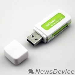 Устройство считывания USB 2.0 Card Reader Micro ORIENT CR-011G  SDHC/SDXC/microSD/MMC/MS/MS Duo/M2