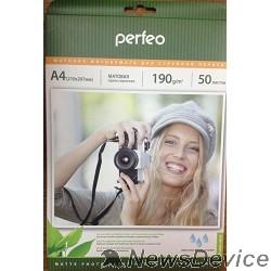 фотобумага Perfeo PF-MTA4-190/50 Бумага Perfeo матовая 50л, A4 190 г/м2 (M06)