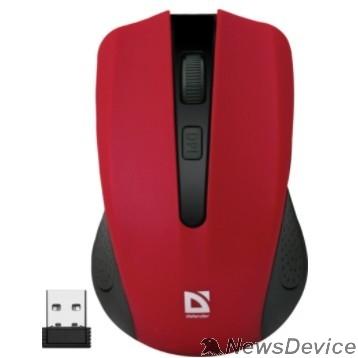 Мышь Defender Accura MM-935 Red USB 52937Беспроводная оптическая мышь, 4 кнопки,800-1600 dpi