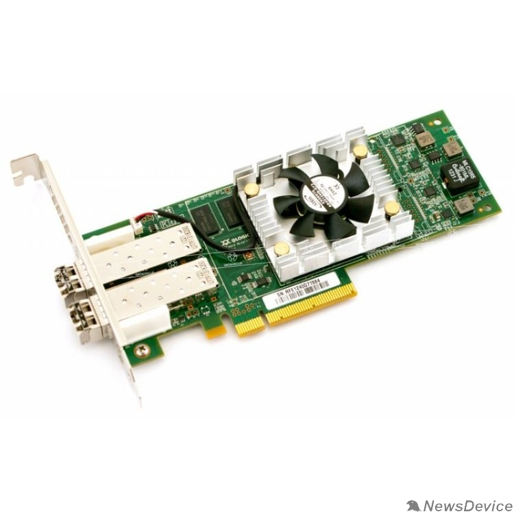 HP Сетевые адаптеры Контроллер Qlogic QLE2672-CK 16Gb Dual Port FC HBA x8 PCIe LC multi-mode optic