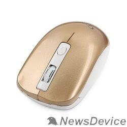 Мышь GembirdMUSW-400-G Gold USB  Мышьбеспров.,3кн.+колесо-кнопка,2.4ГГц,1600dpi, бесшумный клик