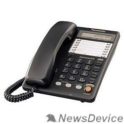Телефон Panasonic KX-TS2365RUB (черный) 16-зн ЖКД, однокноп.набор 20 ном., автодозвон, спикерфон