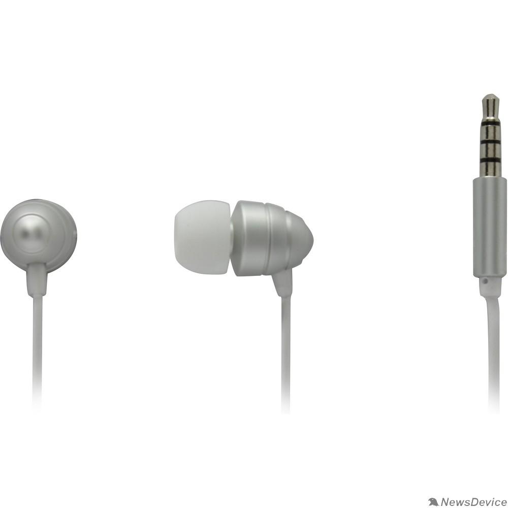 Наушники Гарнитура ES-F55 SILVER Dialog с кнопкой ответа для мобильных устройств, серебристая, металл