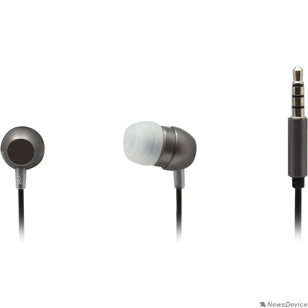 Наушники Гарнитура ES-F57 GREY Dialog с кнопкой ответа для мобильных устройств, серая, металл