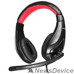 Наушники и микрофоны Oklick HS-L100 черный/красный 2м мониторы оголовье  359485