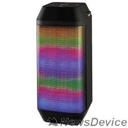 Колонки Ginzzu Ginzzu GM-899B BT-Колонка 2x3W/4Ah/USB/TF/AUX/FM/цветомузыка