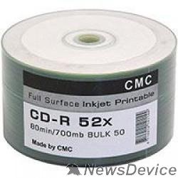 Диск Диски CMC CD-R 80 52x Bulk/50 Full Ink Print