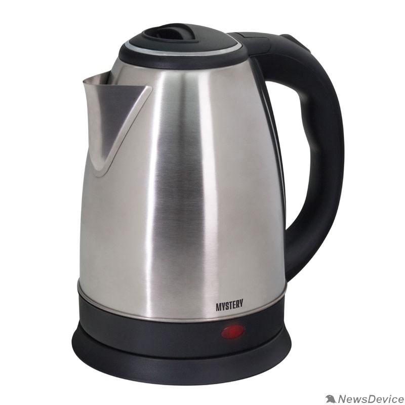 Чайник MYSTERY MEK-1601 Чайник, Мощность 1800 Вт, Объём: 1.7 л., Металлический корпус, Цвет: Чёрный.