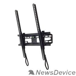 """Крепеж Kromax FLAT-4 new black, наст. для TV 22""""-65"""", max 55 кг, 1 ст св., нак. +3°-10°, от ст. 42 мм, max VESA 400x400 мм."""