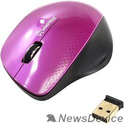Клавиатуры, мыши Мышь беспроводная Smartbuy 309AG розовый/черный SBM-309AG-I