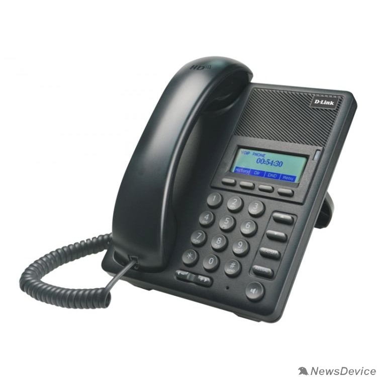 VoIP-телефон D-Link DPH-120S/F1B IP-телефон с 1 WAN-портом 10/100Base-TX, 1 LAN-портом 10/100Base-TX (от DPH-120S/F1A отличается дизайном коробки)
