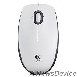 Мышь 910-005004  Logitech Mouse M100 USB White