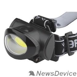 Фонари ЭРА Б0027818 Налобный фонарь GB-601 5Вт COB светодиод, 3хААА в комплект не входит, 3 режима