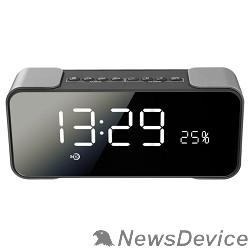 Колонки Ginzzu Ginzzu GM-884B, BT-Колонка 2x5w/LCD/TF/AUX/FM/часы/2 будильника