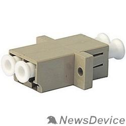 Монтажное оборудование Hyperline FA-P11Z-DLC/DLC-N/WH-BG Оптический проходной адаптер LC-LC, MM, duplex, корпус пластиковый, бежевый, белые колпачки