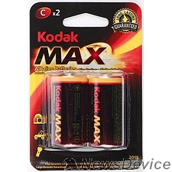 Батарейки Kodak МАХ LR14-2BL KC-2  (20/200/6000) (2шт в уп-ке)