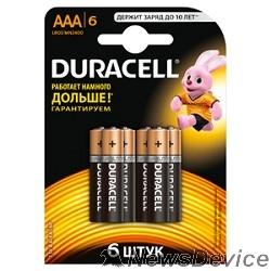 Батарейка DURACELL LR03-6BL BASIC (6/60/33840) (6 шт. в уп-ке)