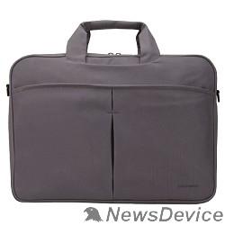 "Сумка для ноутбука Сумка Continent CC-012 Grey нейлон, до 15,6"", серый"
