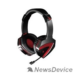 Наушники A4 Bloody G500+V5+B-072  комплект уши +мышь + коврик (черный-красный)  V5G5PB72