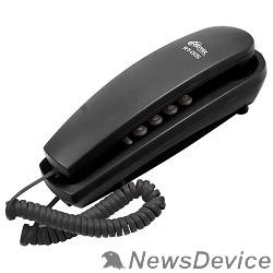 Телефон RITMIX RT-005 black проводной телефон, повторный набор номера, настенная установка, кнопка выключения микрофона, регулятор громкости звонка