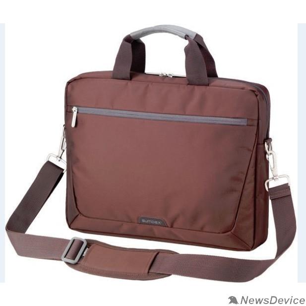 """Сумка для ноутбука Сумка SUMDEX PON-111BR (нейлон, коричневая до 15,6"""")"""