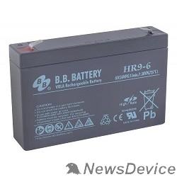 батареи B.B. Battery Аккумулятор HR 9-6 (6V 9(8)Ah)