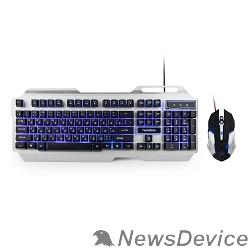 """Клавиатуры, мыши Гарнизон Комплект клавиатура + мышь игровой GKS-510G черный/серый, металл, подсветка,код """"Survarium"""", 2000"""