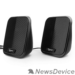 Колонки Акустич. система 2.0 Gembird SPK-100, черный, 6 Вт, рег. громкости, USB-питание