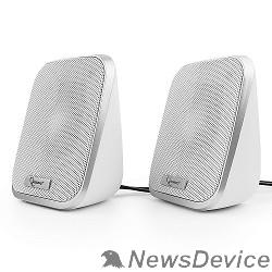 Колонки Акустич. система 2.0 Gembird SPK-100-W, белый, 6 Вт, регулятор громкости, USB-питание