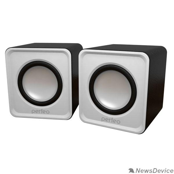 """Колонки Perfeo колонки """"WAVE"""" 2.0, мощность 2х3Вт (RMS), белый, USB PF-128-W PF_5129"""