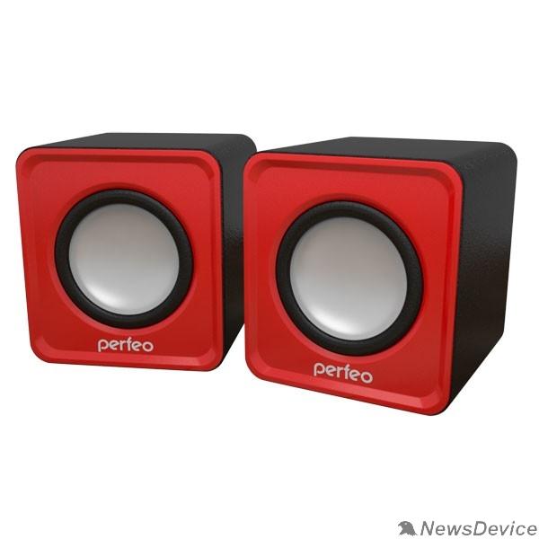 """Колонки Perfeo колонки """"WAVE"""" 2.0, мощность 2х3Вт (RMS), красный, USB PF-128-R"""