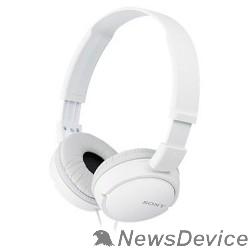 наушники SONY MDRZX110 1.2м белый проводные (оголовье)