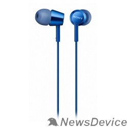 наушники Sony MDREX155APLI.E 1.2м синий проводные (в ушной раковине)