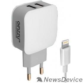 Аксессуар GINZZU GA-3010UW  Адаптер питания GA-3010UW, 2xUSB,8-pin (Apple)