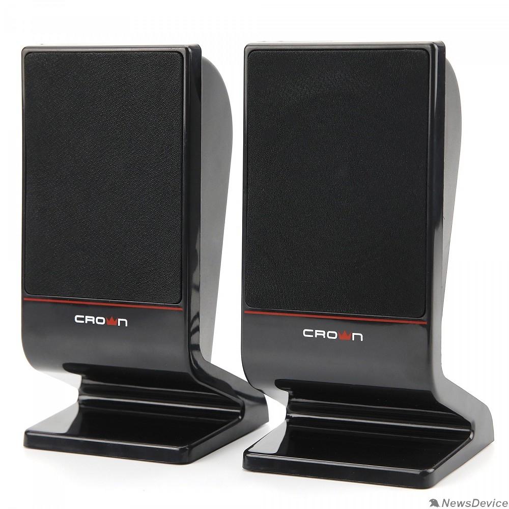 Колонки CROWN CMS-601 (USB, 6W; управление громкостью, разъём для наушников, кнопка включения, Длина кабеля между колонками 1м;Длина аудио-кабеля и питания 2м.)