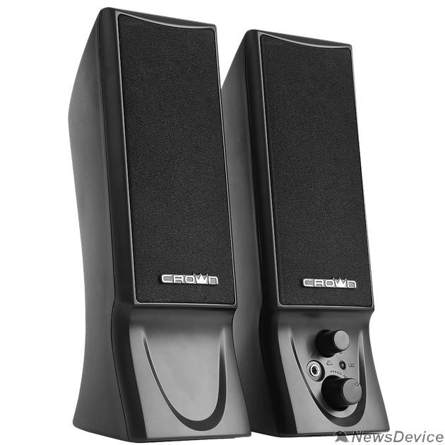 Колонки CROWN CMS-602 (USB, 6W; управление громкостью, разъём для наушников, кнопка включения, Длина кабеля между колонками 1м;Длина аудио-кабеля и питания 2м.)
