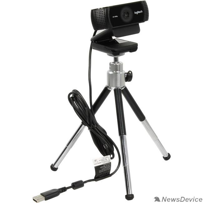 Цифровая камера 960-001088 Logitech WebCam C922 Pro Stream  USB 2.0, 1920*1080, 2Mpix foto, Mic, Black
