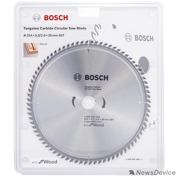 Bosch BOSCH 2608644384 Пильный диск ECO WO 254x30-80T