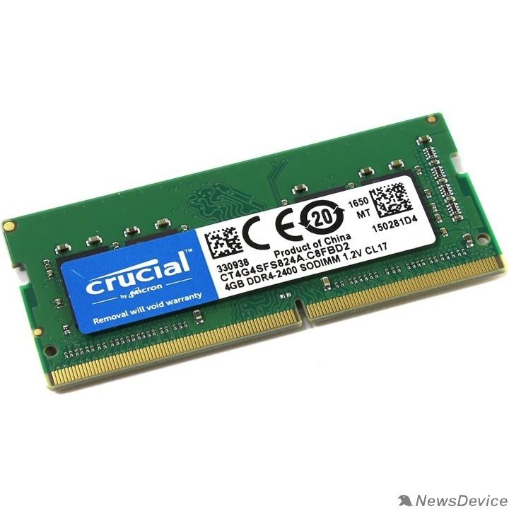 Модуль памяти Crucial DDR4 SODIMM 4GB CT4G4SFS824A PC4-19200, 2400MHz