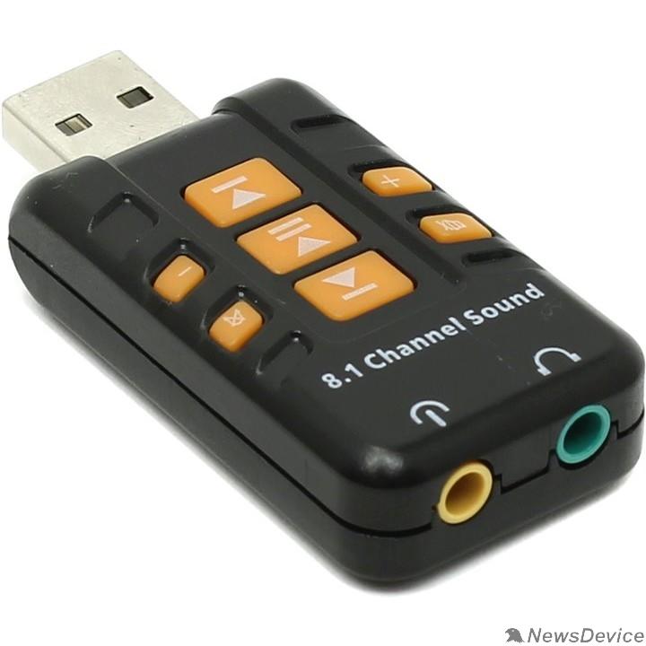 Аксессуар ORIENT AU-01PL (Bl)  USB адаптер для микрофона и наушников комбинированная расцветка (Черный)