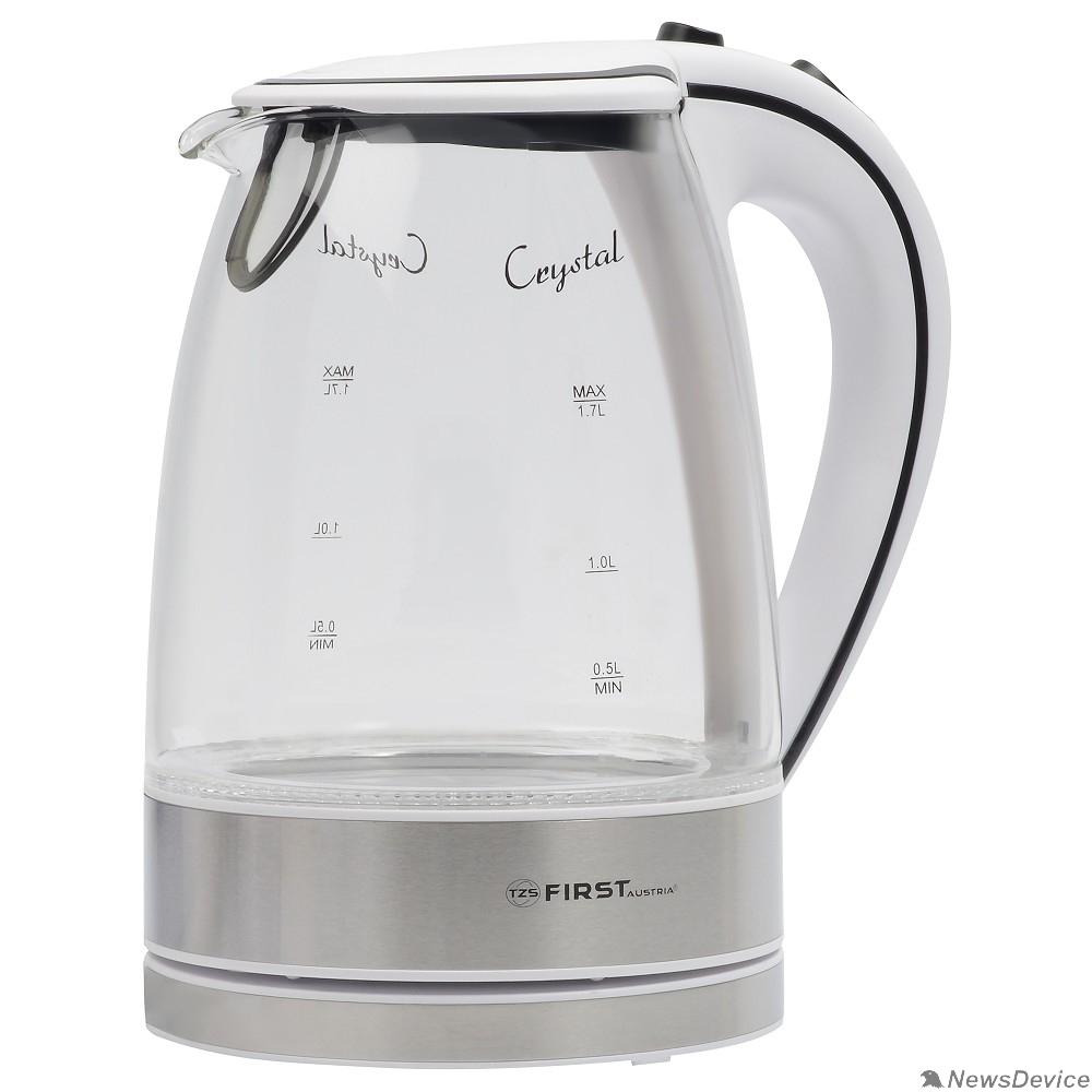 Чайник FIRST FA-5406-2-WI Чайник, стеклянный, 1.7 л,  подсветка, цвет: белый