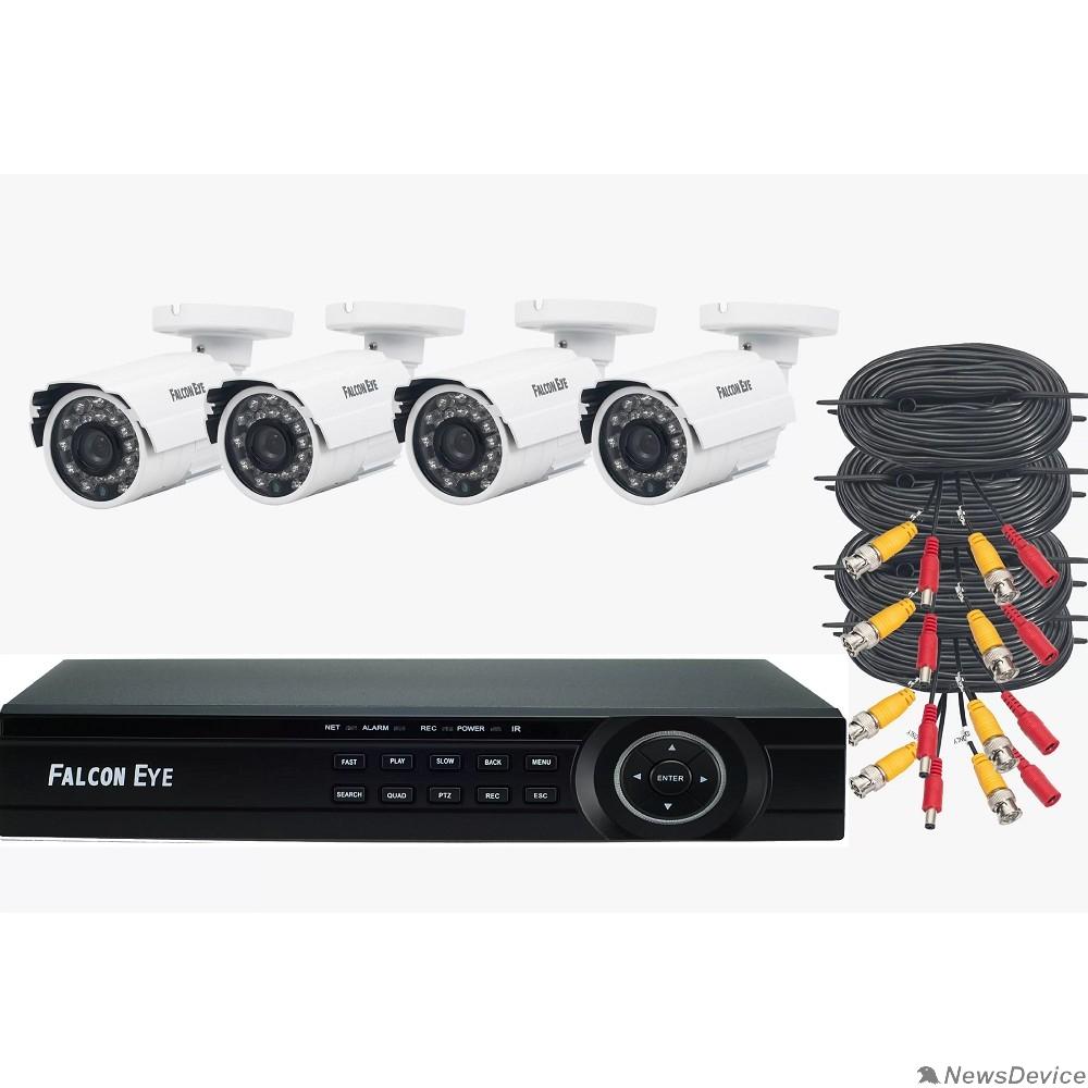 Цифровые камеры Falcon Eye FE-104MHD KIT ДАЧА SMART Комплект видеонаблюдения. Гибридный регистратор с поддержкой AHD/TVI/CVI/IP/Аналог. Алгоритм сжатия H.264,Запись 1080N/100 кад./сек