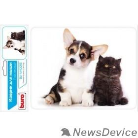 Коврики Коврик для мыши Buro BU-M40095 рисунок/котенок и щенок 291854