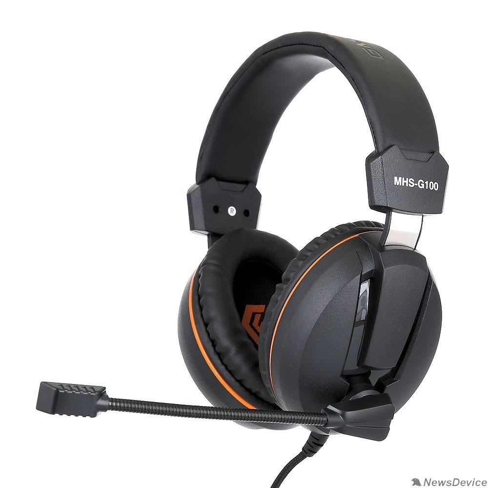 """Наушники Gembird MHS-G100, код """"Survarium"""", черн/ор, рег. громкости, откл. мик, кабель 2,5м"""