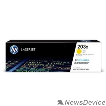 Расходные материалы HP CF542X Картридж 203X Yellow CLJ Pro MFP M254/280/281 (2500 стр)