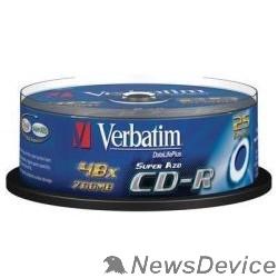 Диск Verbatim Диски CD-R Verbatim 52-x 700Mb, Cristal AZO, Cake Box 25 шт. (43352)