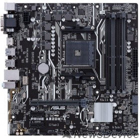 Материнская плата ASUS PRIME A320M-A RTL Soc-AM4 AMD A320 4xDDR4 mATX AC`97 8ch(7.1) GbLAN RAID+VGA+DVI+HDMI