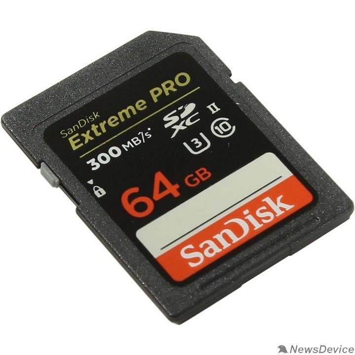 Карта памяти  SecureDigital 64Gb SanDisk SDSDXPK-064G-GN4IN MicroSDHC Class 10 UHS-II U3, Extreme Pro, SD adapter