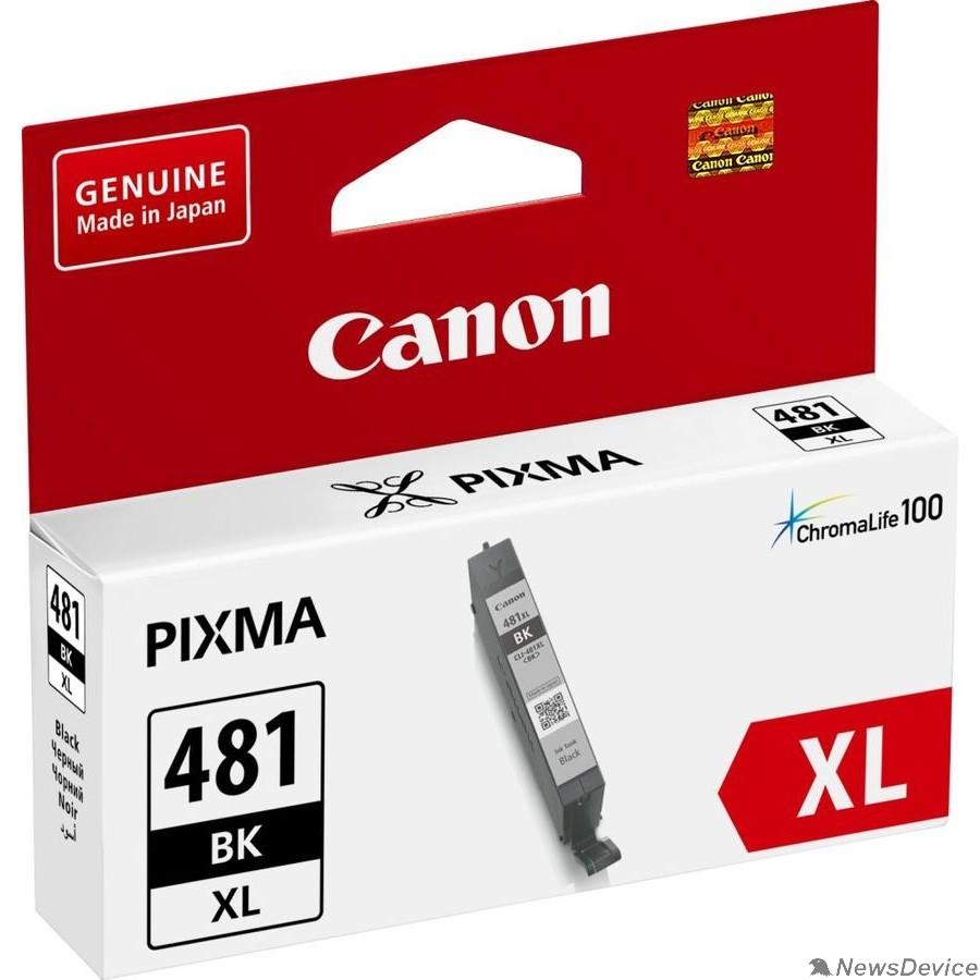 Расходные материалы Canon CLI-481XL BK 2047C001 Картридж для PIXMA TS6140/TS8140TS/TS9140/TR7540/TR8540, 2280 стр. чёрный